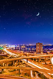 Viaduct Night Royalty Free Stock Photography