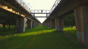 The viaduct over the earth stock footage