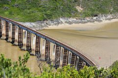 Viaduct over the Kaaiman's river  between George Town and Knysna Stock Photos