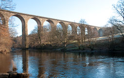 Viaduct over river Royalty Free Stock Images