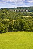 Viaduct over welsh valley Royalty Free Stock Photo