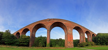 Viaduct Panorama. Panoramic image of a Viaduct with Blue Sky stock photo