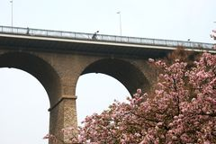 viaduct passerelle Люксембурга Стоковые Фото