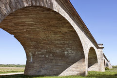 Viaduct. Photograph of the viaduct of gien in a meadow Royalty Free Stock Photo