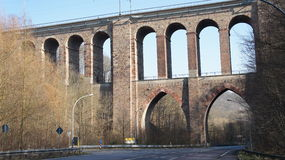Viaduct of the railway Royalty Free Stock Images