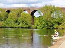 Viaduct at Reddish Vale. England Stock Image