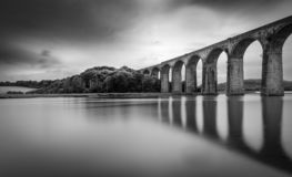 Viaduct Reflections, St Germans, Cornwall royalty free stock photography