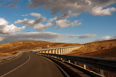 Viaduct in the Sicilian countryside Stock Images