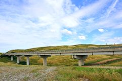Viaduct in Toscanië, Italië Stock Afbeelding