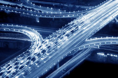 Viaduct traffic jam Stock Images