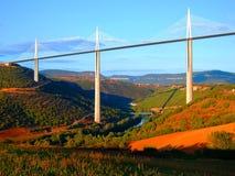 De brug van Millau in Frankrijk Stock Foto's