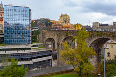 Viaduct Via Eugenia Ravasco at Genova Royalty Free Stock Images
