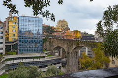 Viaduct Via Eugenia Ravasco at Genova Stock Photography