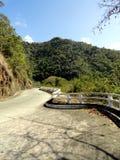Viaduct vid berg Arkivbild