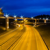 Viaduct in Vilnius, Lazdynai Stock Photography