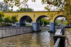 Viaduct voor trein royalty-vrije stock foto's