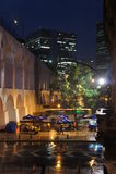 Viaducto de Arcos de Lapa en Santa Teresa, Rio de Janeiro, el Brasil Fotos de archivo libres de regalías
