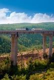 Viaducto de Bunol in Autovia A-3 road Valencia Royalty Free Stock Images