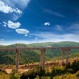 Viaducto de Bunol in Autovia A-3 road Valencia Royalty Free Stock Photo