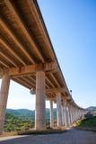 Viaducto de Bunol in Autovia A-3 road Valencia Stock Photo