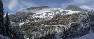 Viaducto de Landwasser Imágenes de archivo libres de regalías