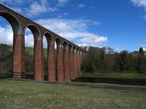 Viaducto de Leaderfoot, fronteras, Escocia Imagenes de archivo
