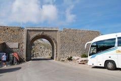 Viaducto del Sa Calobra, Majorca Foto de archivo