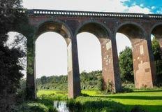 Viaducto del tren de Eynesford en Kent Foto de archivo