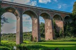 Viaducto del tren en Eynesford Kent Fotos de archivo