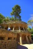 Viaducto en el parque Guell, Barcelona Imagenes de archivo