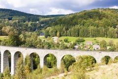 Viaducto ferroviario Novina Fotos de archivo libres de regalías