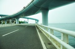 Viaducto por el mar en xia-men Foto de archivo