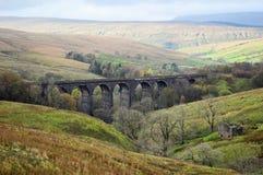 Viaducto principal de la abolladura, dentdale Cumbria fotos de archivo libres de regalías