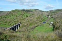 Viaducto principal de Monsal, Derbyshire Foto de archivo libre de regalías