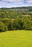 Viaducto sobre el valle galés Foto de archivo libre de regalías