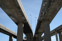 viaducts хайвея урбанские Стоковая Фотография