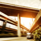 Viaducts and small trucks Stock Image