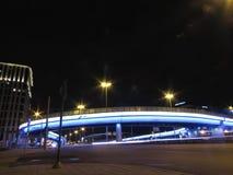Viadukt i moscow royaltyfri fotografi