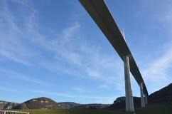 Viadukt von Millau, Frankreich Stockbilder