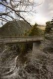 Viaduto através do terreno montanhoso Fotografia de Stock