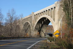 Viaduto da estrada de ferro Fotos de Stock Royalty Free