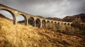 Viaduto de Glenfinnan, em janeiro de 2015 Imagens de Stock