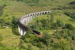 Viaduto de Glenfinnan, Lochaber, montanhas, Escócia Fotografia de Stock Royalty Free