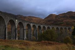 Viaduto de Glenfinnan no outono Foto de Stock Royalty Free