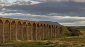 Viaduto de Ribblehead, North Yorkshire, Reino Unido fotografia de stock royalty free