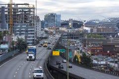 Viaduto do Alasca da maneira em Seattle Foto de Stock Royalty Free