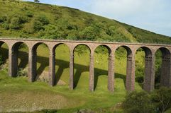 Viaduto no vale Cumbria Fotografia de Stock Royalty Free
