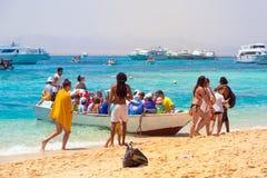 Viagem à ilha do paraíso do al-Mahmya, Egito Fotos de Stock Royalty Free