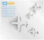Viagem aérea abstrata do fundo do vetor. Web ilustração stock
