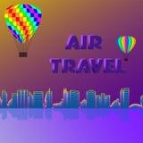Viagem aérea ao longo da costa ilustração stock